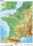 Franciaország, domborzati (francia) 100*140 cm, laminált, faléces