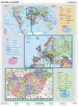 Helyünk a világban (A Föld, Európa és Magyarország)-120*160 cm-laminált,faléces