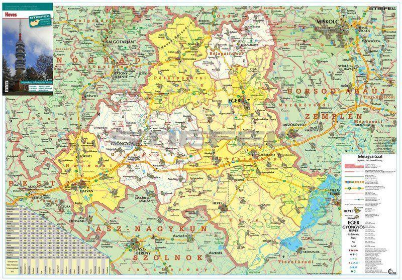 heves megye térkép Heves megye hajtogatott térkép   A Lurdy Ház Térképbolt,Tel:456 05