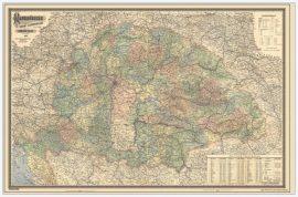 Magyarország 1903 falitérkép (Közigazgatási Homolka József)