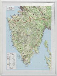 Isztria domború térkép