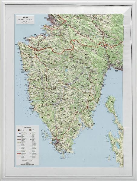 isztria térkép Isztria domború térkép   A Lurdy Ház Térképbolt,Tel:456 05 61