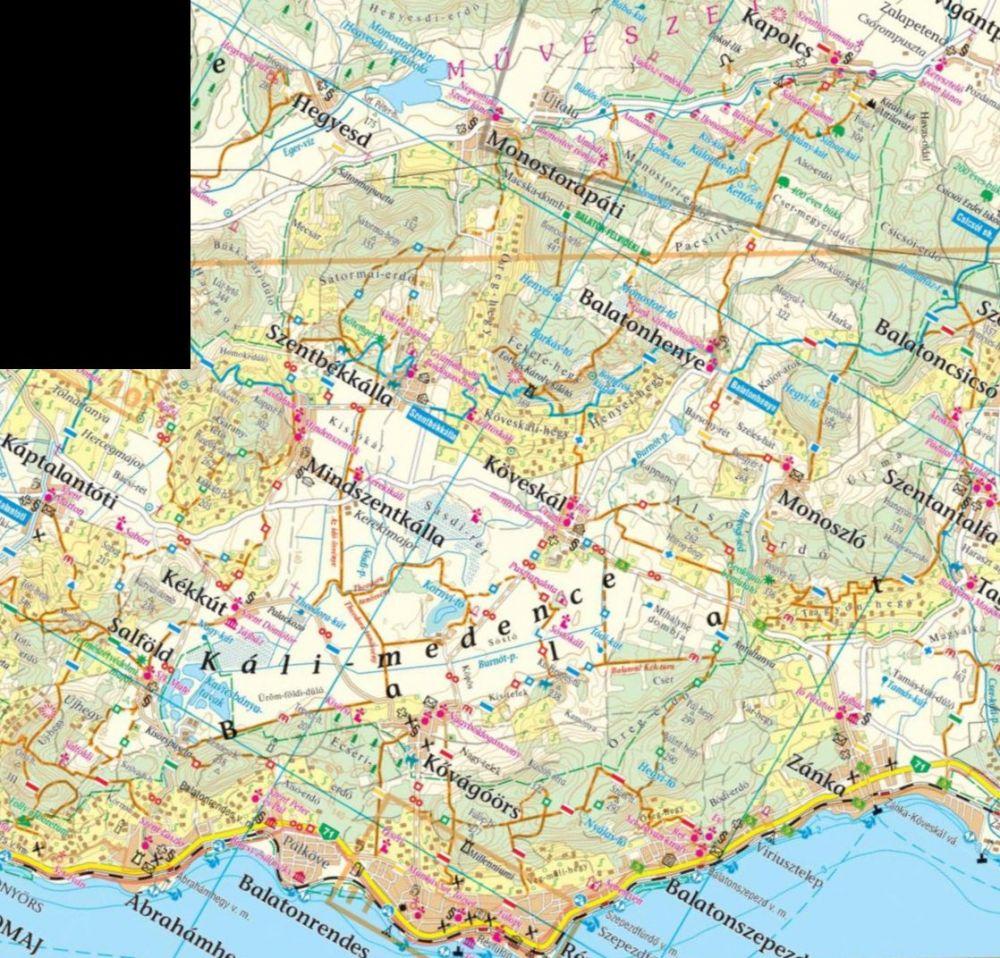 káli medence térkép Káli medence és környéke   túristatérkép   A Lurdy Ház Térképbolt  káli medence térkép