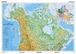 Kanada, domborzati (angol) -160*120 cm-laminált,faléces