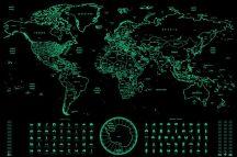 Világító (sötétben) világtérkép Deluxe XL - angol nyelvű