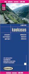 Kaukázus - autóstérkép