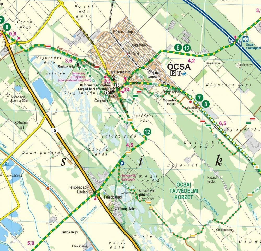 kerékpáros térkép Kerékpáros   Budapesttől délre kerékpáros térkép   A Lurdy Ház