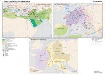 A kora középkor nagy birodalmai ,  160*120 cm - laminált, faléces
