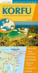 Korfu - hajtogatott autótérkép - 2007