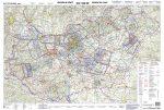 Magyarország légiforgalmi térkép - ICAO - laminált (írható-törölhető) 2020-01