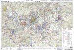 Magyarország légiforgalmi térkép íves - ICAO - laminált (írható-törölhető) 2020-01