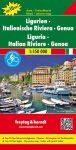 Liguria - Olasz Riviéra - Genova autós- és szabadidő térkép