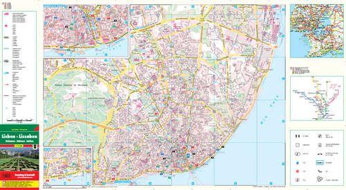 lisszabon térkép Lisszabon City Pocket   város térkép   A Lurdy Ház Térképbolt,Tel  lisszabon térkép