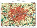 London várostérkép (angol nyelvű)-160*120 cm-laminált,faléces