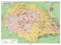 A magyarság néprajzi és történeti tájai falitérkép, 160*120 cm - laminált, lécezett