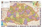 A Magyar Szent Korona Országai (kiegyezéstől az I. világháborúig) falitérkép 160*120 cm - laminált, faléces