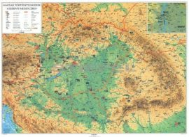 Magyar történeti emlékek a Kárpát-medencében falitérkép 160*120 cm - laminált, faléces