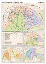Magyarorszag-1606-1711-ig 100*140 cm - laminált, faléces