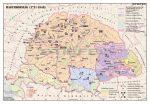 Magyarország 1711-1848 között 140*100 cm - laminált, faléces