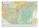Magyarország autótérkép 140*100 cm falitérkép - fóliás, fémléces