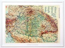 Magyarország 1914 domború térkép kicsi