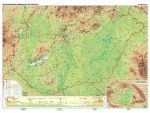 Magyarország domborzata és vízrajza kétoldalas falitérkép 160*120 cm - léces