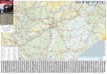 Magyarország kamionos térképe 140*100 cm - fóliás, fémléces