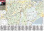 Magyarország kamionos térképe 100*70 cm - fóliás, fémléces