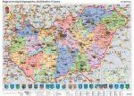 Magyarország közigazgatása, közlekedése és ipara, 140*100 cm, laminált, faléces