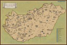 Kaparós Magyarország látványtérkép - íves hengerben