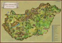 Magyarország látványtérkép / Balaton és környéke - asztali könyöklő