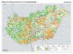 Magyarország növényzete és mezőgazdasága, 140*100 cm, laminált, faléces
