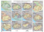Magyarország területi változásai / Magyar királyok falitérkép 160*120 cm - laminált, faléces