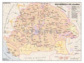 Magyarország a XIII. században 140*100 cm - laminált, faléces