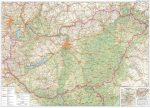 Magyarország autótérkép 122*86 cm - íves papír