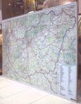 Magyarország autótérkép 140*100 cm - térképtűvel szúrható, keretezett
