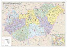 Magyarország postai irányítószámos falitérképe 140*100 cm - lécezett