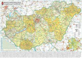 Magyarország országgyűlési választókerületei 140*100 cm falitérkép 2018 - tűzdelhető keretezett