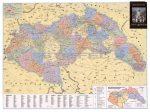Magyarország közigazgatása 1944-ben és a Holocaust, 100*70 cm - laminált, lécezett