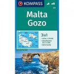 Málta, Gozo turistatérkép - Kompass 235