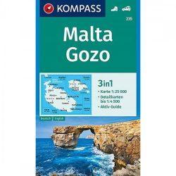 Málta, Gozo turistatérkép