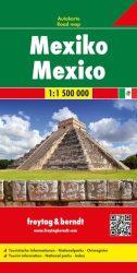 Mexikó - autóstérkép