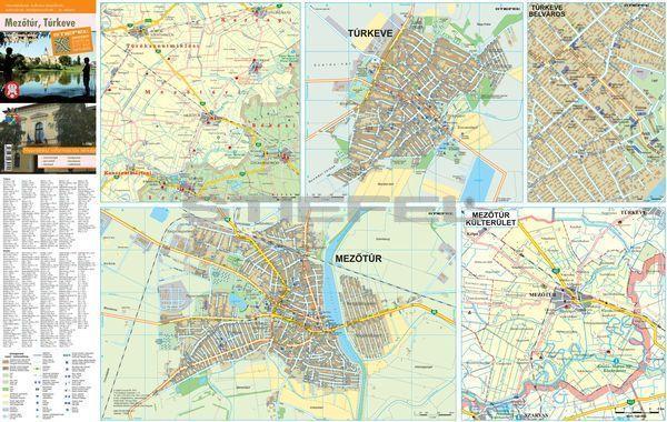 mezőtúr térkép Mezőtúr, Túrkeve   hajtogatott várostérkép   A Lurdy Ház