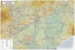 Magyarország autótérkép 65*45 cm - térképtűvel szúrható, keretezett