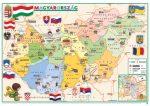 Gyerek Magyarország közigazgatása / domborzata 65*45 cm - asztali könyöklő