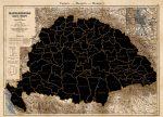 Történelmi Magyarország (1890) kaparós térképe - íves hengerben