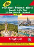 Németország - Ausztria - Svájc autóatlasz