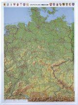 Németország domború térkép