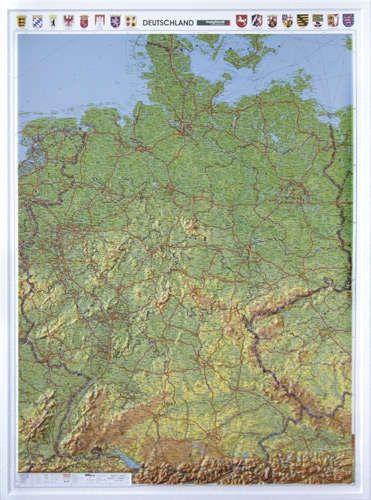 németország domborzati térkép Németország domború térkép   A Lurdy Ház Térképbolt,Tel:456 05 61  németország domborzati térkép