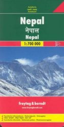 Nepál - autóstérkép